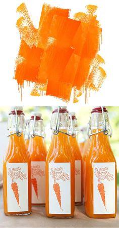 Orange paint and carrot juice - Orange Mondays