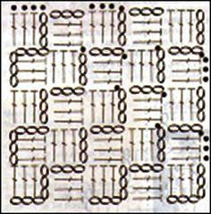 GRAFICOS=PATRONES=CROCHET =TRICOT = DOS AGUJAS: PUNTOS A CROCHET SU GRAFICO = PUNTOS A GANCHILLO SU PATRON