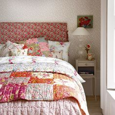 Floral Vintage-look Bedroom - from housetohome