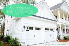 How to organize your garage so its functional.  | A Bowl Full of Lemons