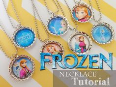 Ginger Snap Crafts: Frozen Necklace {tutorial} from A Little of This, A Little of That