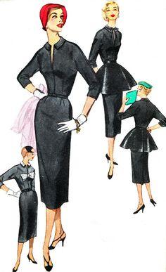 Vintage Sewing Pattern 1950s Simplicity 1375 Slim by paneenjerez, $20.00