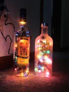 Wine and Liquor Bottle Lamps by JLFuller08 on Etsy, $15.00