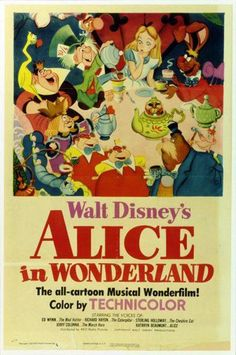 Today in Disney history: Alice first fell down the rabbit hole on this date in 1951 #AliceInWonderland