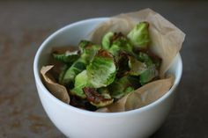 Brussels Sprout Chips sprout chip, bake brussel, brussels sprouts, brussel sprout