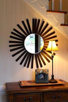 DIY Paint Stick Mirror DIY Mirror DIY Home DIY Decor