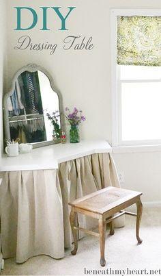 DIY: Corner Dressing Table with Tutorial