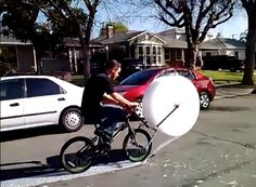 Well that's one way to relieve a little stress! | The Bubble Wrap Bike