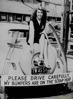 Rita Hayworth - WWII War Effort  Rita Hayworth in 1942 campaigning for the recycling of scrap metal in WWII. A large part of the home front war effort in World War Two was saving scrap metal that could be recycled into weapons, ships & aircraft for the war. [ Source Rita Hayworth - WWII War Effort ]