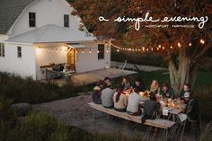 A Simple Evening at the Northport Farmhouse (photo by Bryan Dale; lettering by Megan Gilger) I The Yellow Table