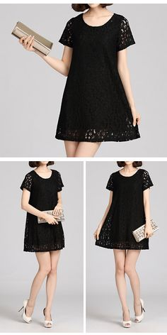 Fair Lady Lace Dress Trendy Roundneck Dress by FashionOrgy