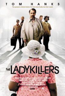 The Ladykillers (2004). Completely underrated movie by the Coen brothers starring Tom Hanks and a great ensemble cast. Motley crew working together to rob a casino boat turns an elderly woman's home into their base of operations. Odd. Hilarious.