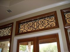 faux wrought iron treatment for a transom!