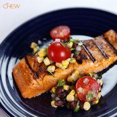 Christina Coleman's Chipotle BBQ Salmon #TheChew #Salmon