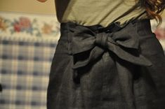 diy bow skirt