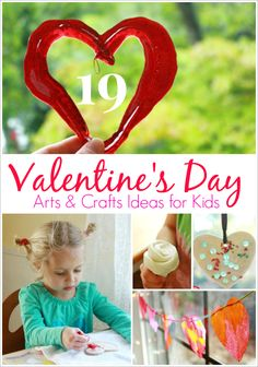 19 Valentine's Day Arts and Crafts Activities for Kids --Plus a link to another 21 great ideas at the end of this post!