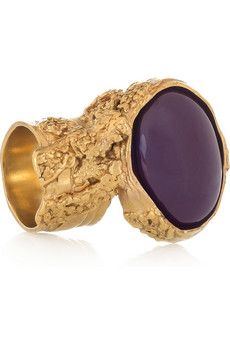 Arty gold-plated glass ring