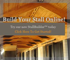 Online stallbuilder at this web site lets you pick a horse stall design, change colors, styles, wood, and stable accessories.