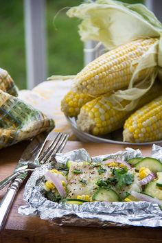 Summer Grilled Coconut-Lime Fish Packets   17 Fresh And Healthy Recipes You Can Make In A Foil Packet