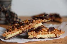Super easy Samoa Bark (like the Girl Scout Cookies).