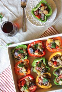This is an extremely inventive, new-school way of making stuffed bell peppers. Its not just inventive, its a cleaner, healthier way to make this classic recipe.