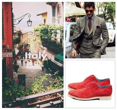Mix a pair of bright Italian shoes with a a suit and you are ready for a classy summer....from the office to afterwork. With Carlo Pazolini