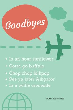 3 Easy family traditions and rituals (not to do with dinner) Starting with Goodbyes