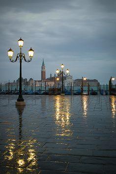 Rainy Morning, Grand Canal, Venice Italy