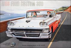 Ford Car advert poster (1958)