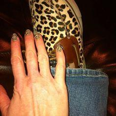 Marilyn Nail polish strips match my leopard sperrys!