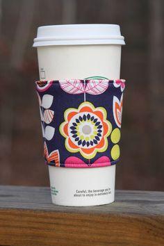 Fabric Coffee Cozy / Coffee Sleeve - Sundae - Java Jacket, teacher ...