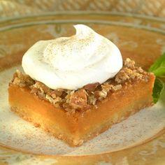 Pumpkin Pecan Pie Squares