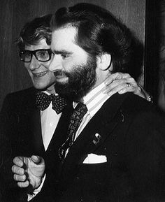 Yves Saint Laurent and Karl Lagerfeld at Le Palace, late 1970s