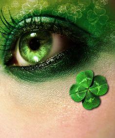 Ƹ̴Ӂ̴Ʒ.ⓅⓌⓃ.Ƹ̴Ӂ̴Ʒ  green eye makeup day makeup, emerald, color, saint patricks day, four leaf clover, st patricks day, green eyes, irish, green day