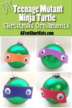 These are fun for your TMNT fan! Make these DIY Teenage Mutant Ninja Turtle Ornaments!
