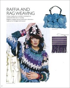 raffia and rag weaving