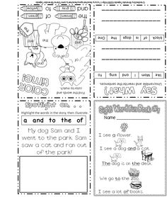 FREE sample of my sight word activity books. Each mini-book reviews 5 sight words from the Fry Word List.