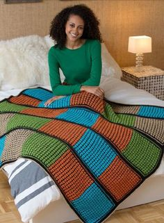 Double the Fun Reversible Crochet Afghan