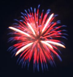 red white & blue fireworks