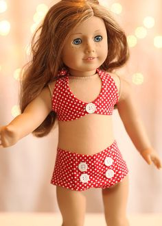 American Girl Doll Clothing - Red