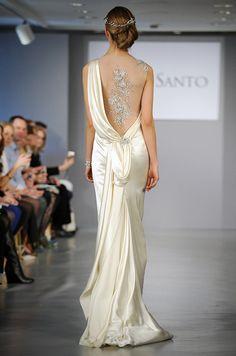 Pretty back wedding dress | Ines Di Santo, Spring 2014