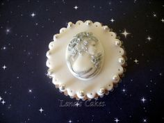 Cameo Hand-painted Cupcake by Lena's Cakes. Follow on Pinterest at http://www.pinterest.com/lenascakes/