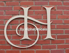 Initial Monogram Wall Decor Wooden Letters Wall by Alphabeticals, $25.00