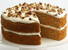 HEALTHIER VERSION OF CARROT CAKE- yay!    53% fewer calories and 73% less fat than an original recipe. Great recipe to use for Easter if you're watching what you eat!