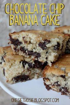 Onesie Twosie: Chocolate Chip Banana Cake