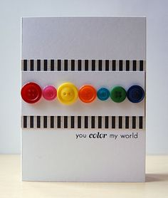 Cute card idea made with buttons