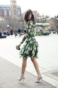 dress ss14, green floral, fashion, green dress, wedding guest floral, floral dresses