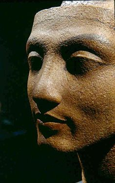 Queen Nefertiti - unfinished head - details