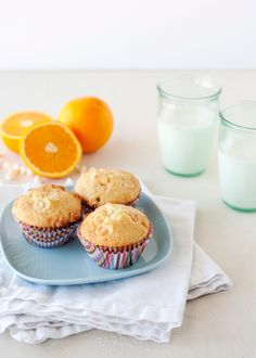 orange white-chocolate muffins
