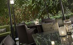 Rooftop 866 features a gorgeously landscaped outdoor setting #bar #atlanta #midtown